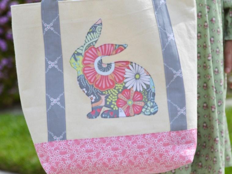 HeatnBond Spring Bunny Tote bag by Amanda Niederhauser