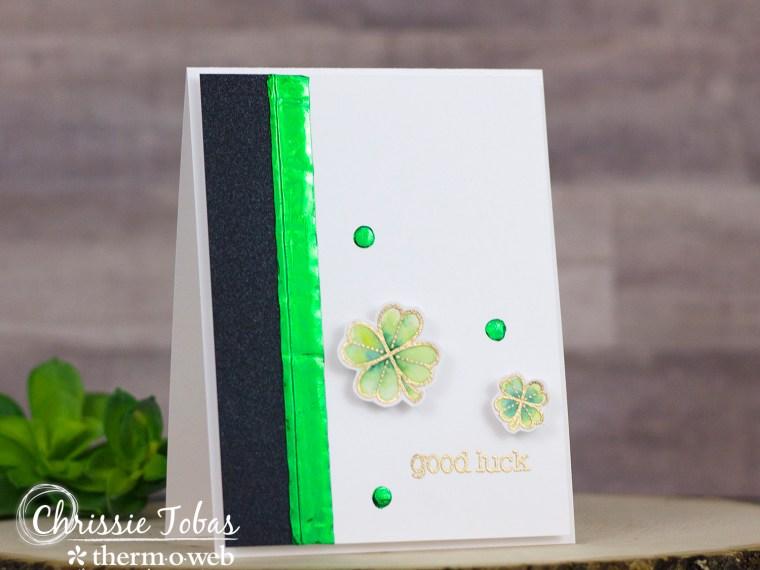 Good Luck Deco Foil Card