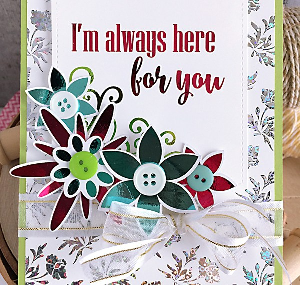 For You Deco Foil Gina K Designs Card by Daniela Dobson