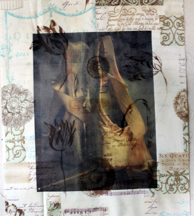 transfer sheet on fabric