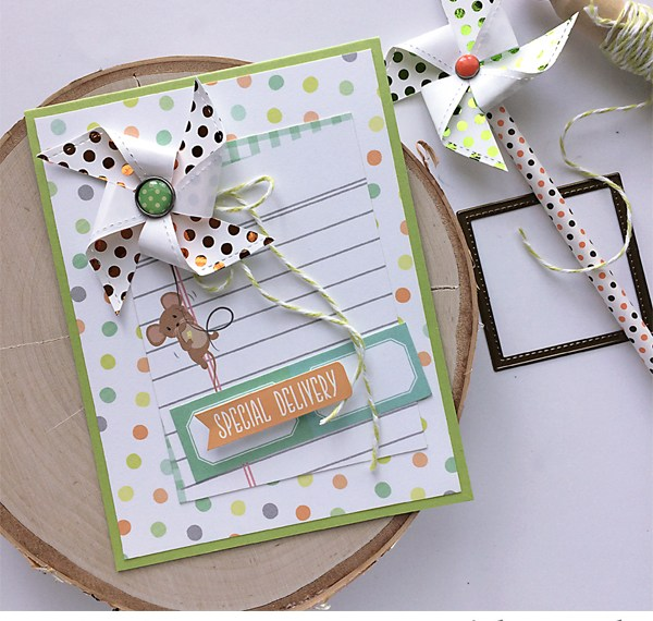 Special delivery baby boy card by Daniela Dobson