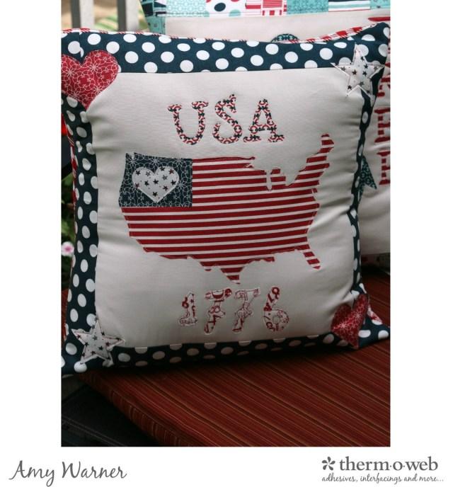Easy Patriotic Pillow