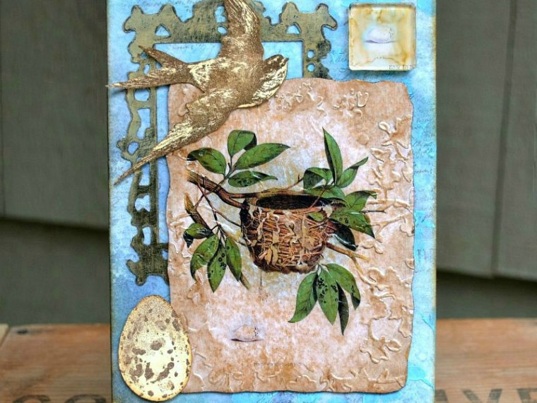 Use Your Wings Mixed Media Canvas by Deb Riddell For Therm O Web