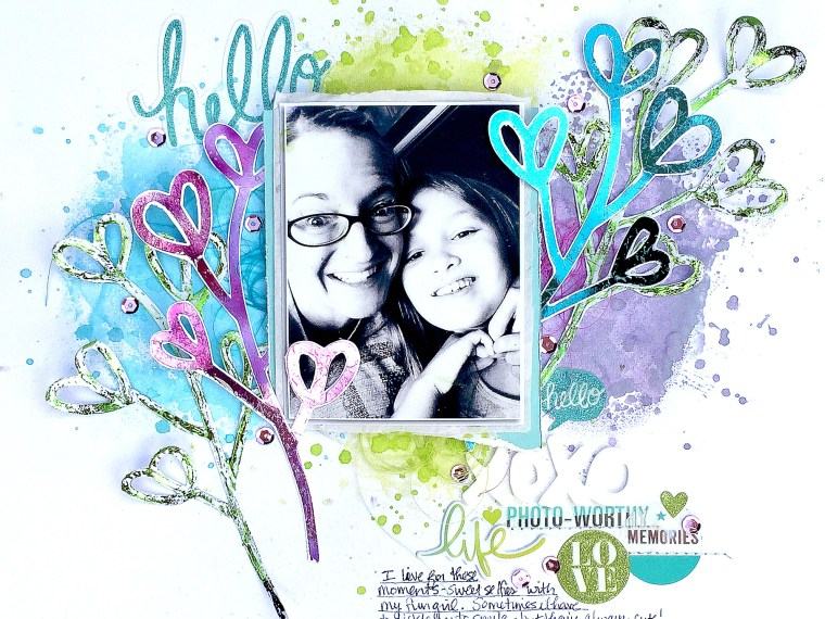 Hugs & Kissed Deco Foil Layout by Missy Whidden