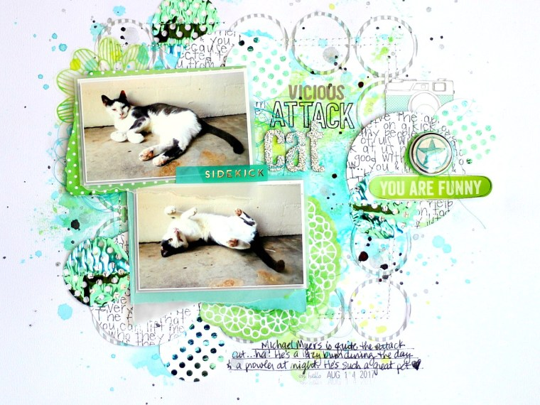 Vicious Cat Attack Missy Whidden Layout