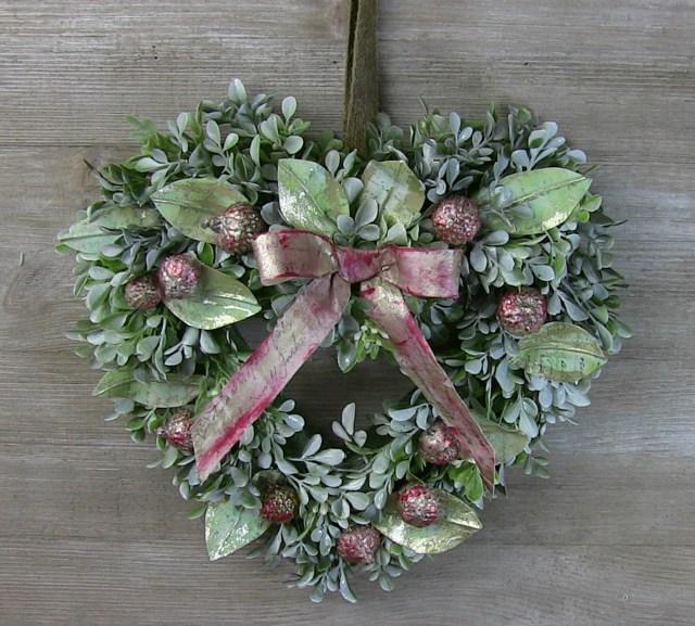 Rebekah Meier Christmas Mixed Media Wreath