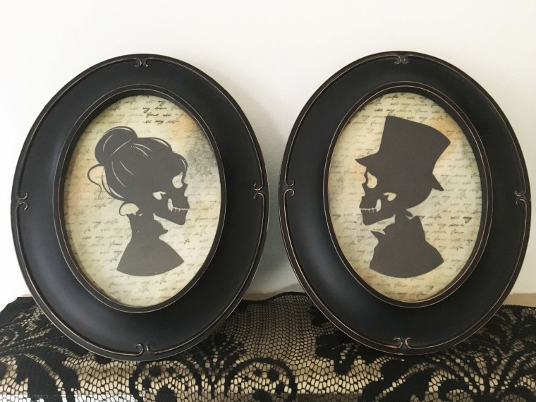 Creepy Halloween Silhouettes with Mixed Media