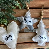 Farmhouse Christmas Ornaments with HeatnBond