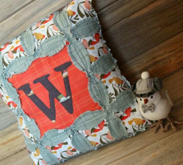 Dear Stella Winter Monogram Pillow Amy Warner