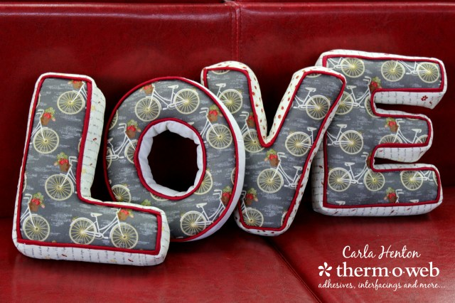 Love letters by Carla with sweet bee designs fabrics and heatnbong interfacing for Thermoweb