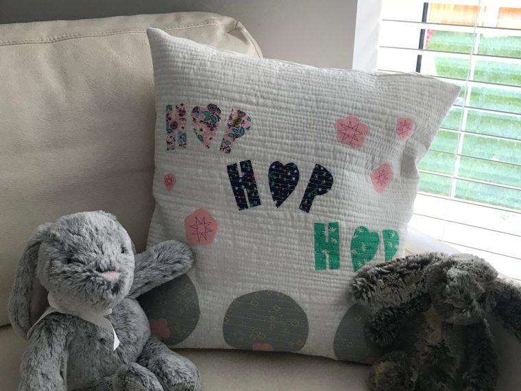 Easter Hop Hop Pillow with HeatnBond Fusible Fleece