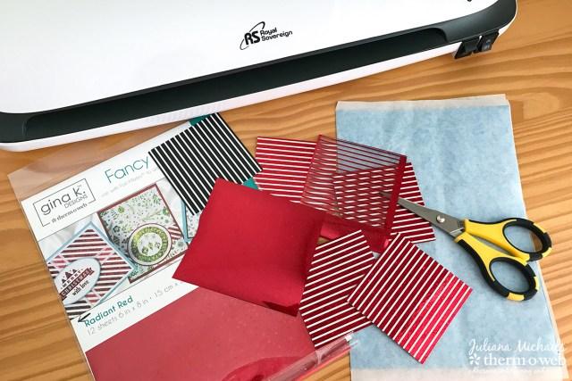 Foiled Cupcake Pinwheel Picks using Therm O Web Gina K Designs Fancy Foils