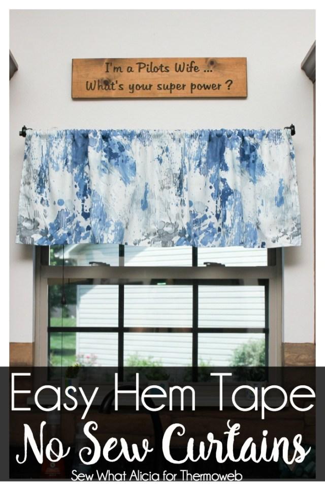 No Sew Hem Tape Curtains