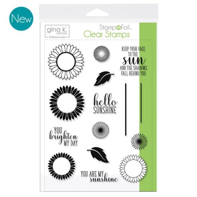 Gina K. Designs StampnFoil Stamp Set - Graphic Dandelions