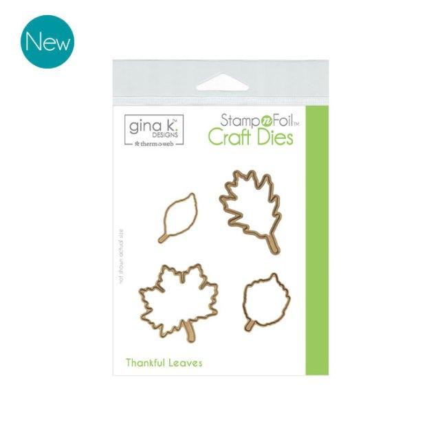 Gina K. Designs Die Set - Thankful Leaves
