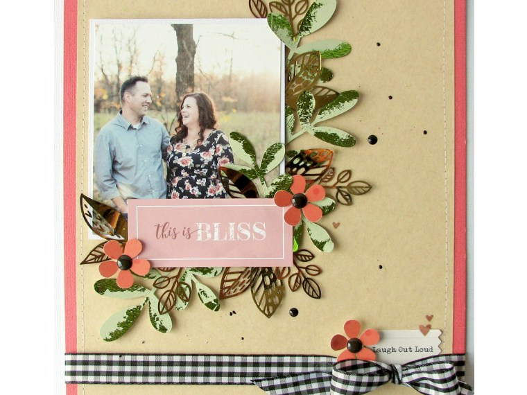 Fall scrapbook layout by Nicole Nowosad with Deco Foil