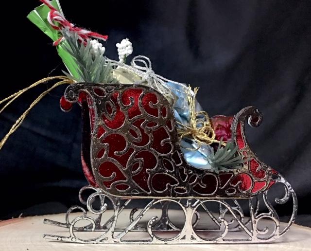 Santa's Sleigh Holiday Ornament