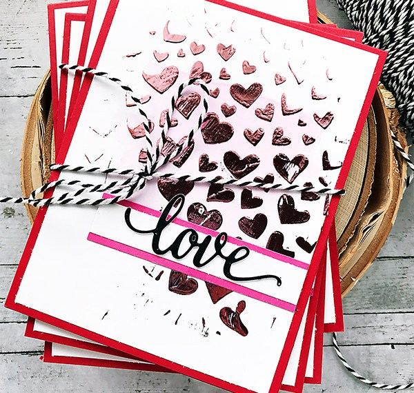 Love Cards with Deco Foil