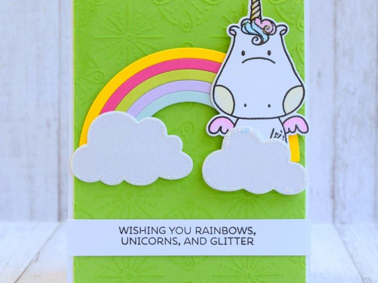 Unicorn Rainbow Deco Foil Card