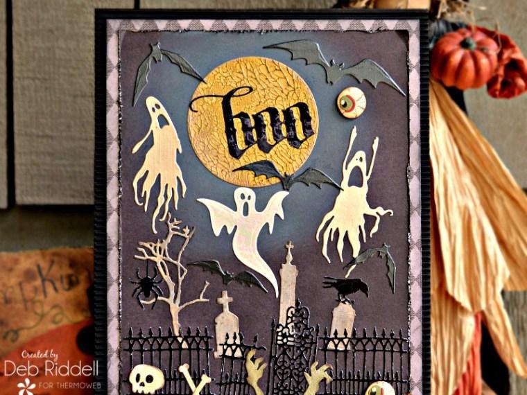 Haunted Graveyard Halloween Plaque