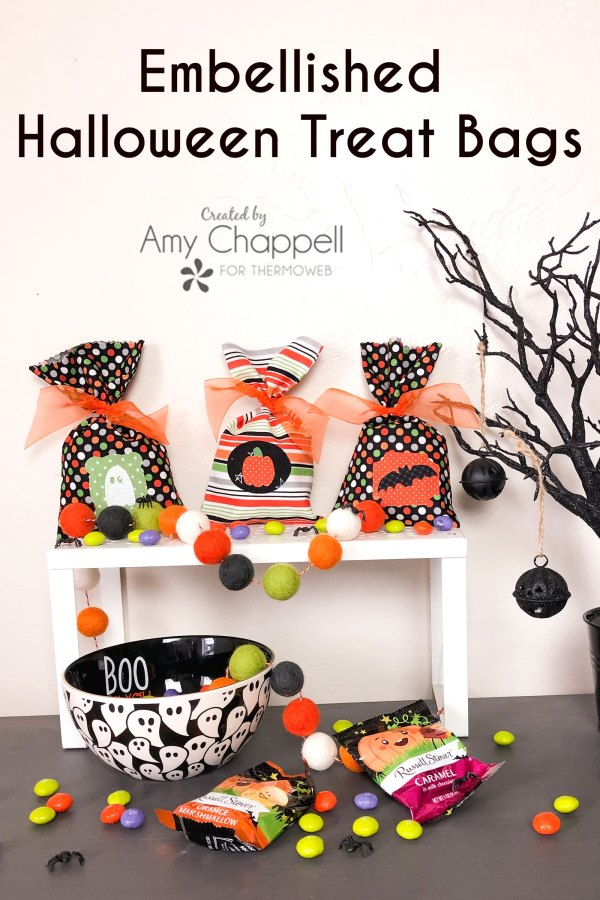 Embellish treat bags for Halloween