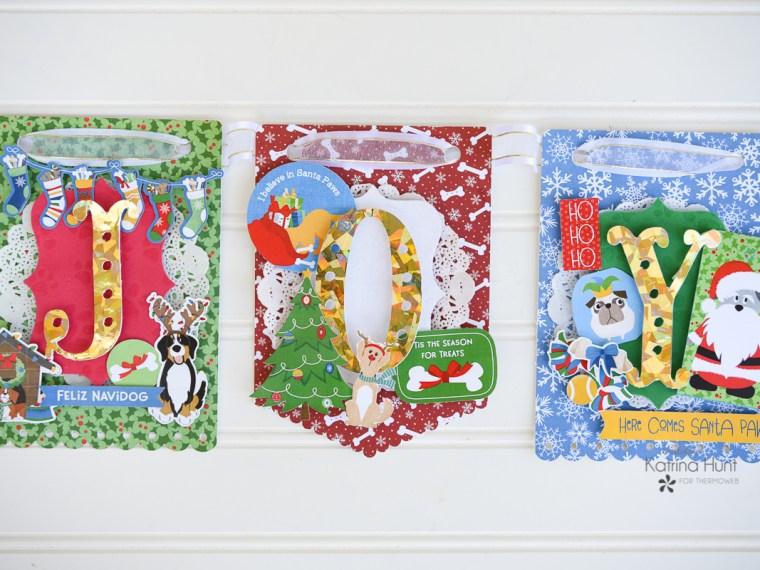 JOY Dog Christmas Banner