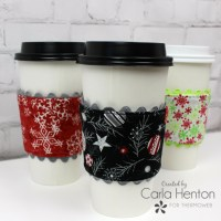 Make a Coffee Shop Cup Sleeve with HeatNBond Fleece