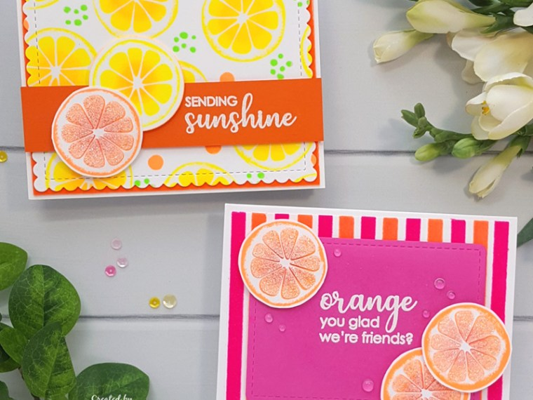 Citrusy Cards by Andrea Shell   Sending Sunshine stamp by Rina K Designs