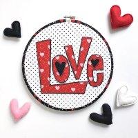 Love Applique Valentine Hoop