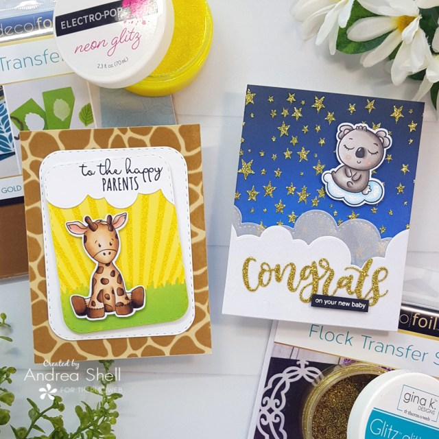 Baby Cards by Andrea Shell | stamps by Whimsy Stamps