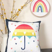 Rainbow Umbrella Pillow