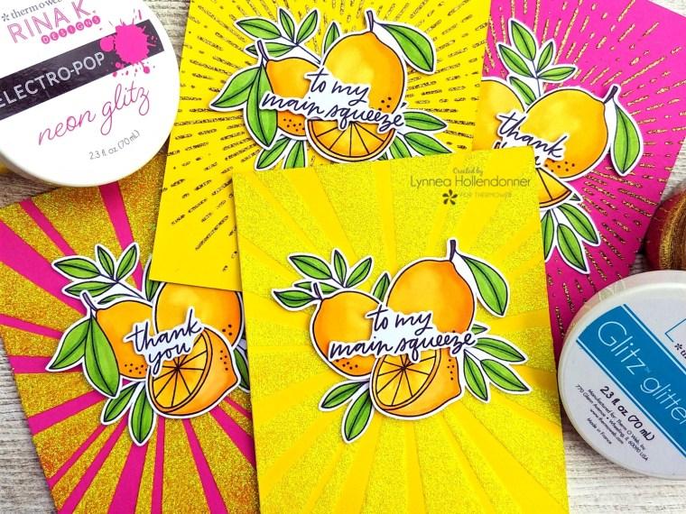 Sunshine Cards with Glitz