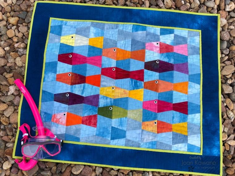 Here Fishy Fishy Mini Quilt