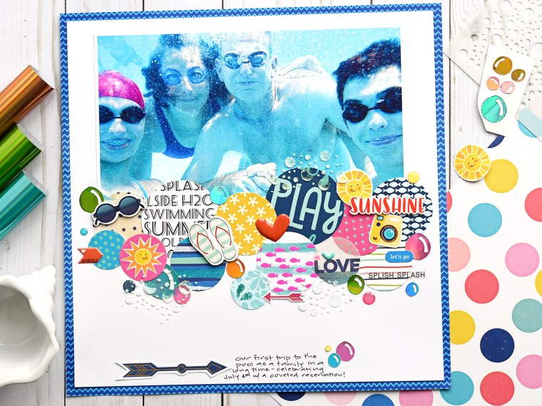 Under the water scrapbook page