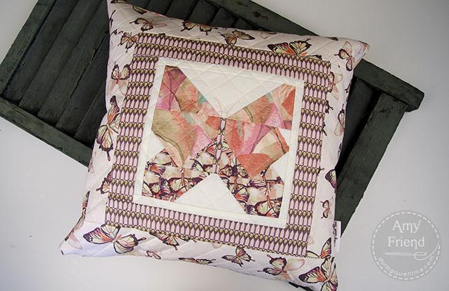 Paper Pieced Butterfly Pillow