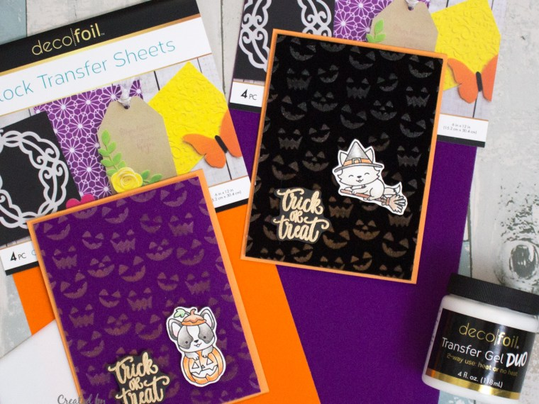 Halloween Dual Flocked Cards