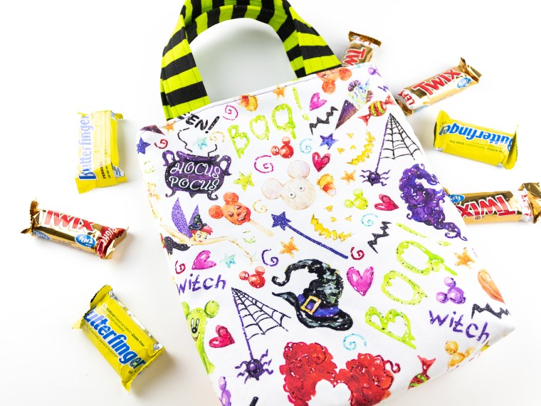 Halloween Trick or Treat Bag with Interfacing