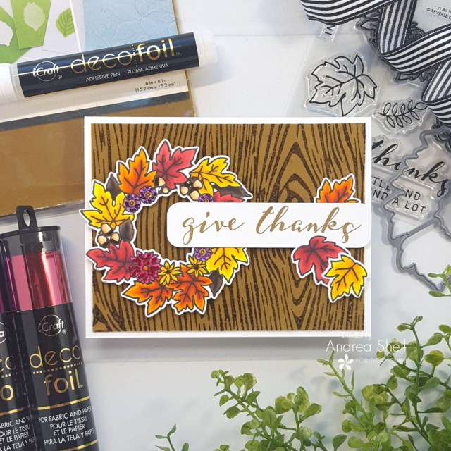 Give Thanks card by Andrea Shell | In All Things stamp by Reverse Confetti
