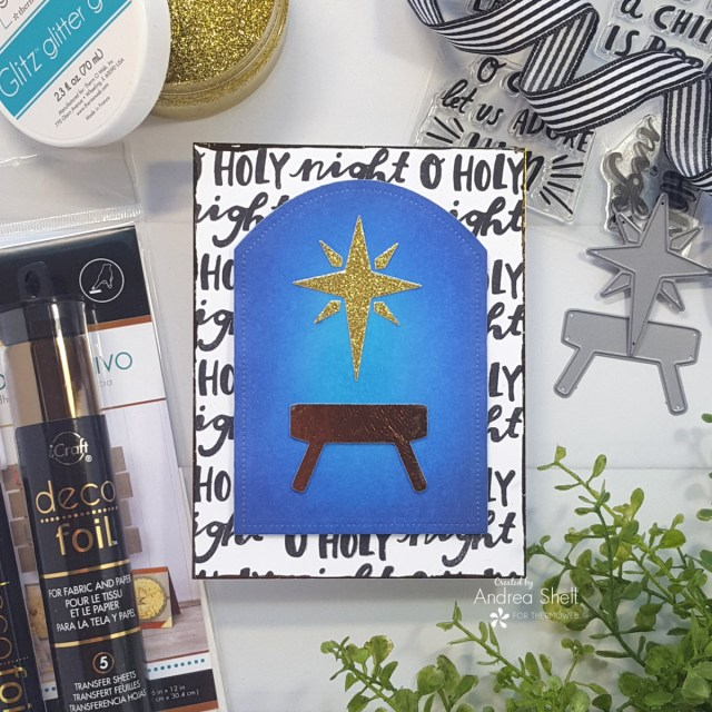 Manger Card by Andrea Shell | The Best Gift of All stamp by Reverse Confetti
