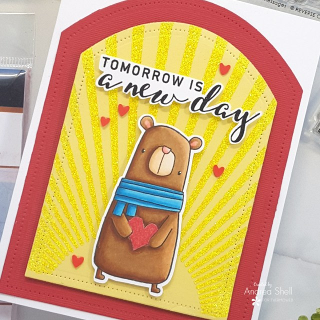 New Day Bear Card by Andrea Shell   Mixed Messages and Big Bear stamps from Reverse Confetti