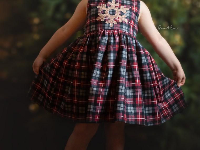 Snowflake Applique Dress