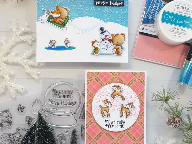 Winter Cards by Andrea Shell | stamps by LDRS Creative
