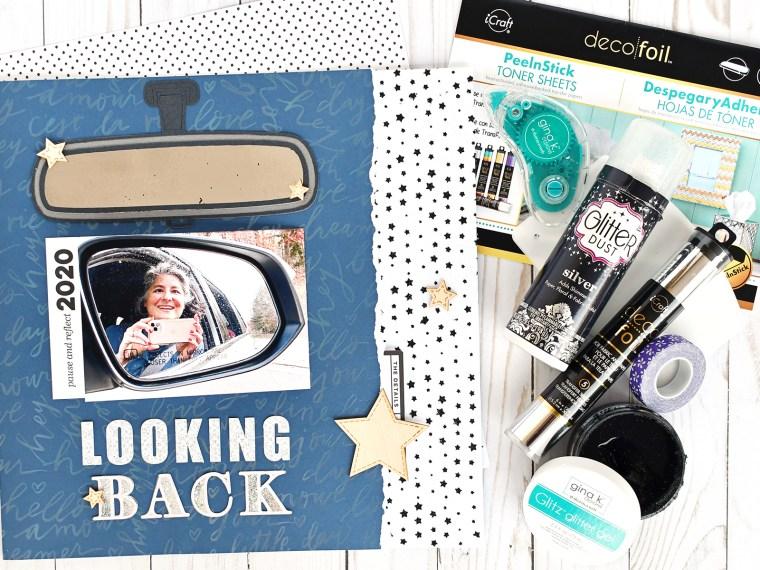 Looking Back Scrapbook Layout