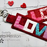 Quilted Love Keychain with HeatnBond