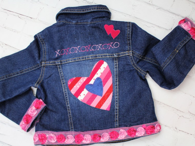 XoXo Denim Jacket Embellishments with HeatnBond
