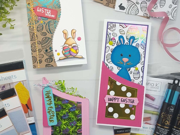 Easter Wishes Cards with Deco Foil