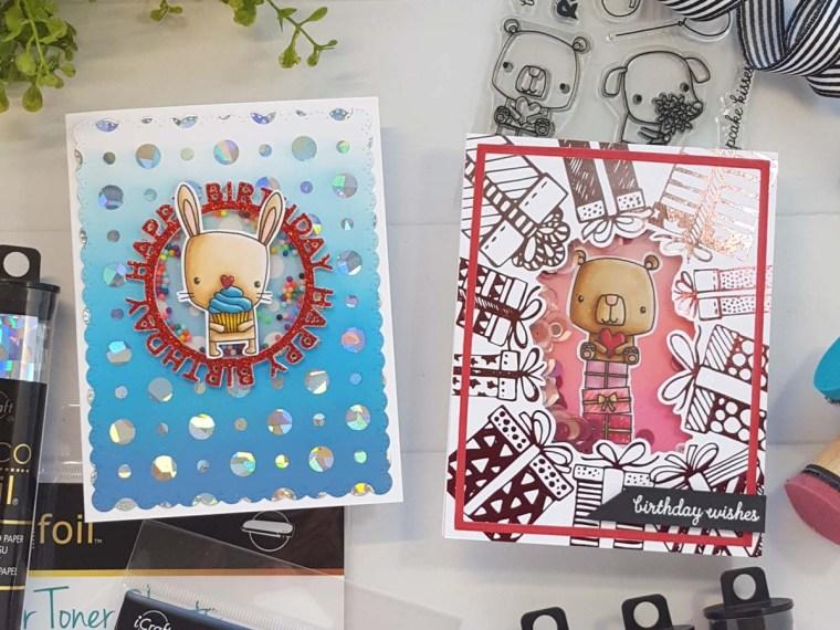 Bunny Birthday Shaker Cards