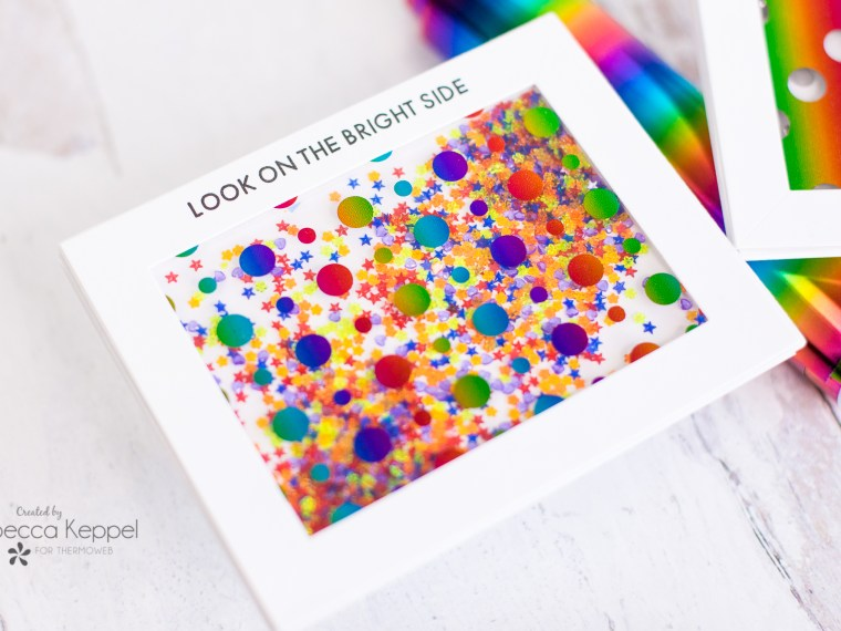 Rainbow Deco Foil Shaker Cards