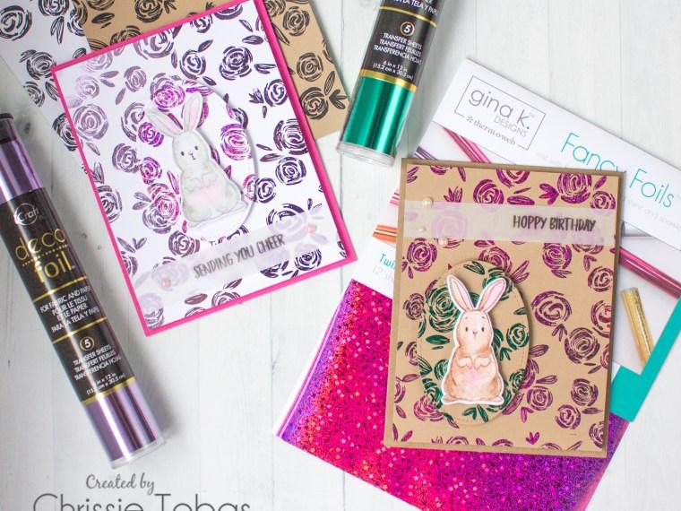 Blossom Buddies Spring Deco Foil Cards