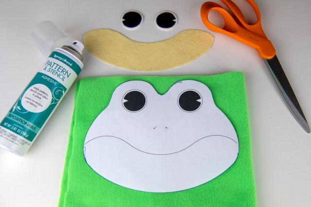 frog bean bag pattern